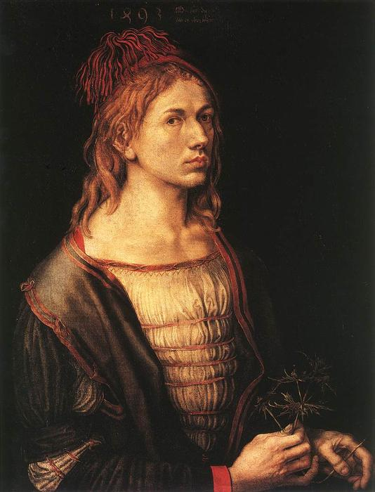famous painting Self-portrait à 22 of Albrecht Durer
