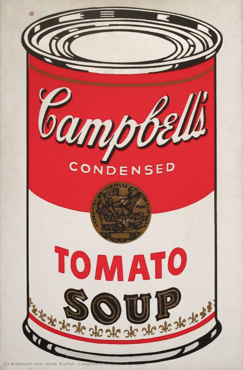 famous painting Campbell'S boîte de soupe ( tomate ) of Andy Warhol