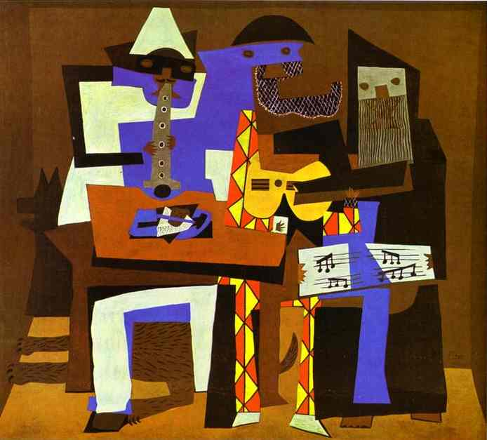 | trois musiciens de Pablo Picasso | Most-Famous-Paintings.com