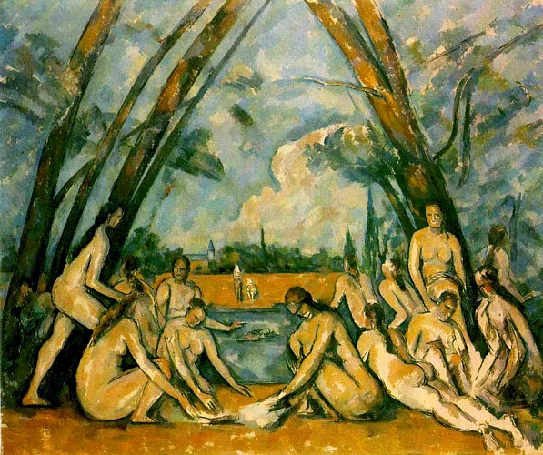 Achat Reproductions De Peintures | grands baigneurs ( Crême philadelphia ) de Paul Cezanne | Most-Famous-Paintings.com