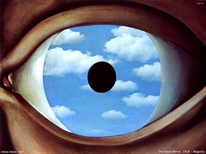 famous painting Faux Miroir of Rene Magritte