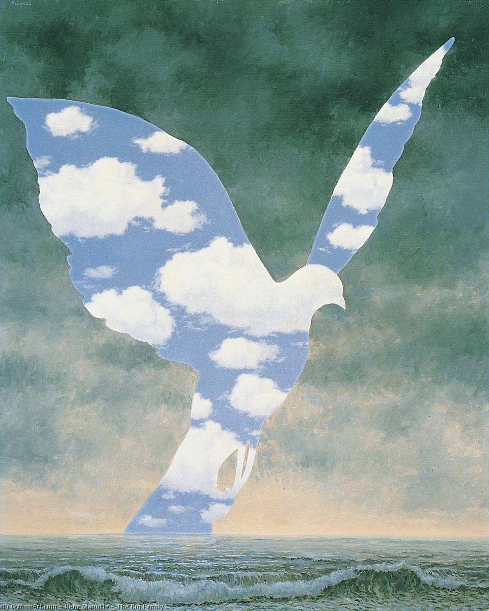 | le grand famille de Rene Magritte | Most-Famous-Paintings.com