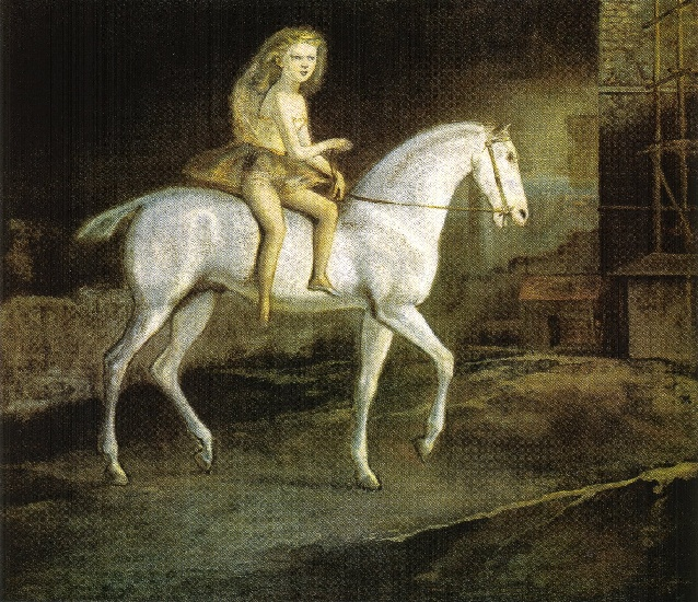 | Squires sur une cheval blanc de Balthus (Balthasar Klossowski) | Most-Famous-Paintings.com
