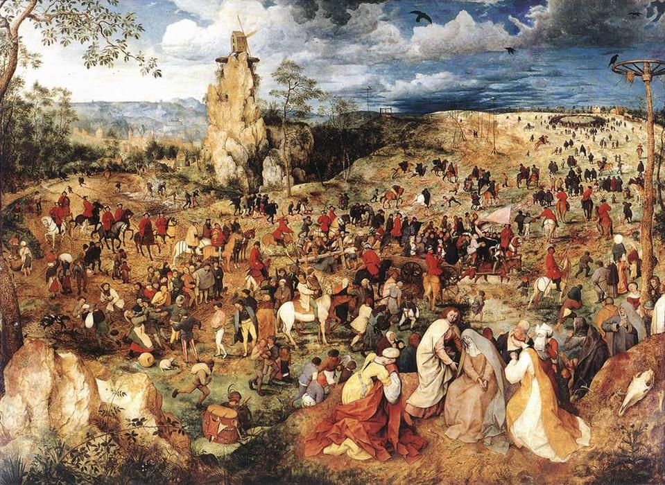 famous painting christ portant la croix of Pieter Bruegel The Elder