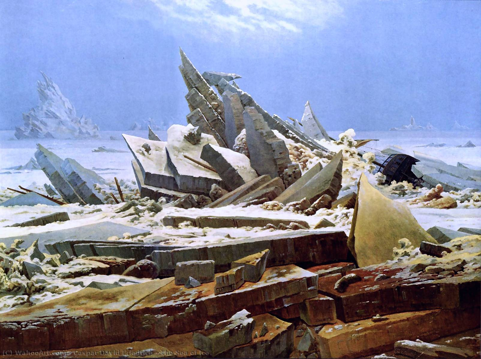 famous painting La Mer de Glace of Caspar David Friedrich