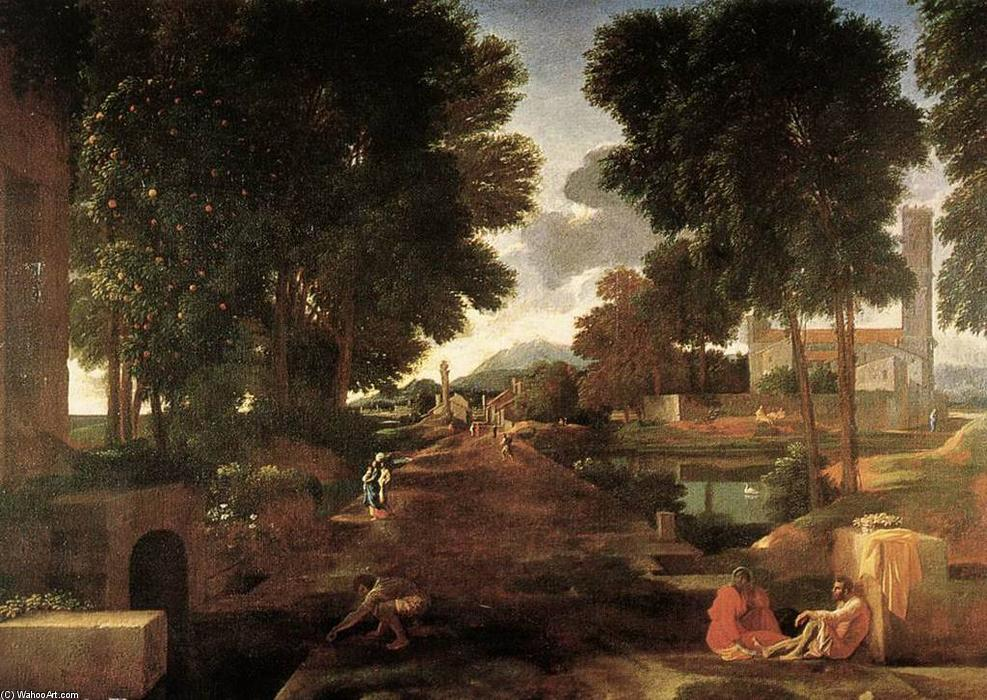 famous painting a romaine route of Nicolas Poussin