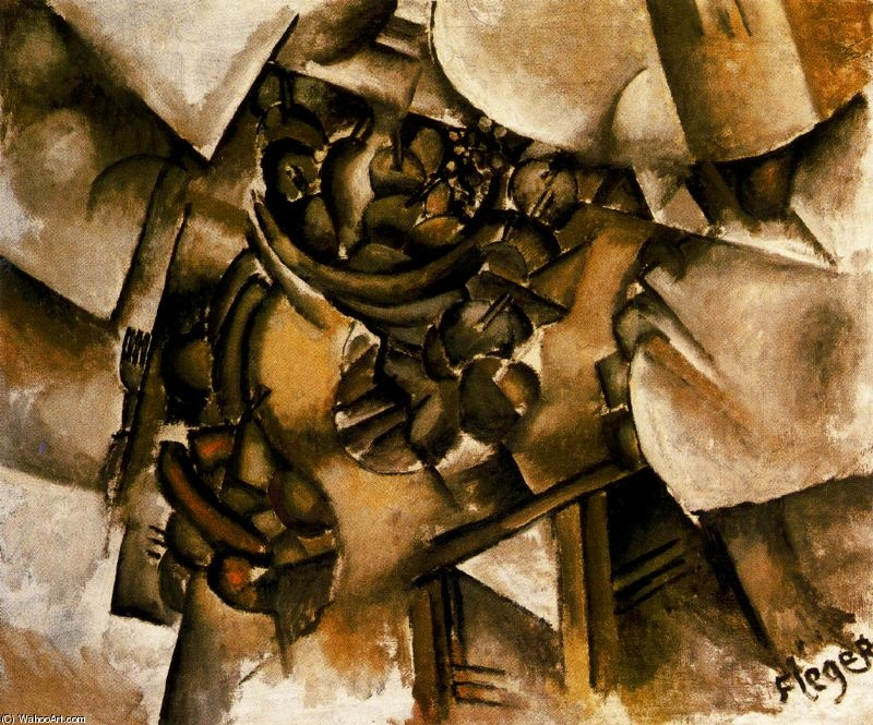 | fruits sur l' table de Fernand Leger | Most-Famous-Paintings.com