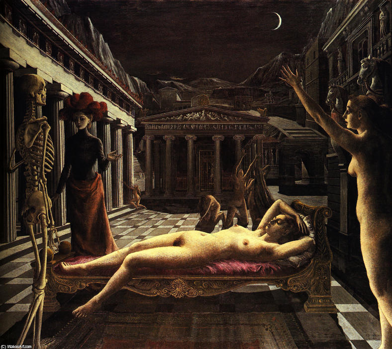 | le dormir venus de Paul Delvaux | Most-Famous-Paintings.com