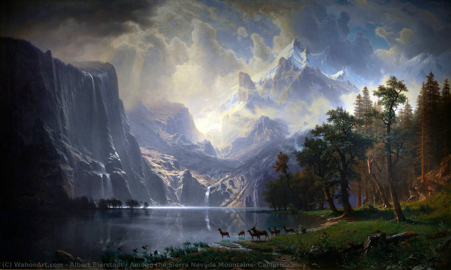 famous painting Parmi les Californie  of Albert Bierstadt