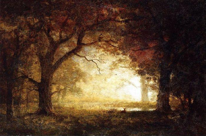 Achat Reproductions De Peintures | forêt lever du soleil de Albert Bierstadt | Most-Famous-Paintings.com