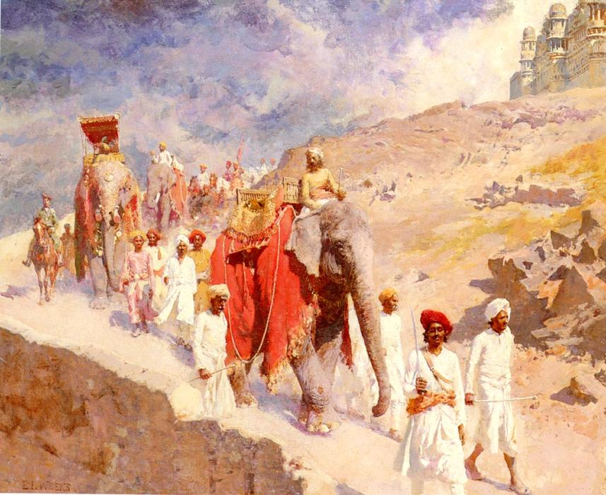 famous painting une indien chasse fête of Edwin Lord Weeks