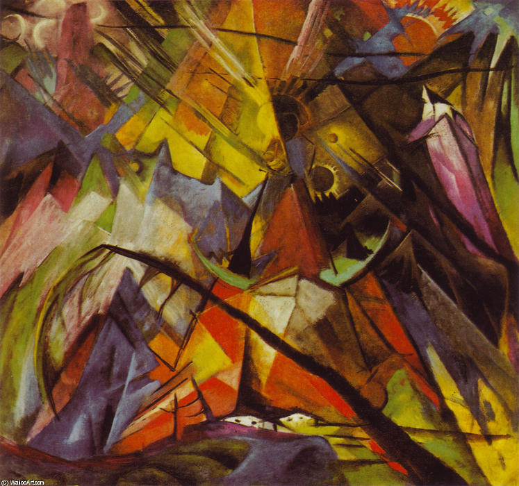 famous painting Tyrol of Franz Marc