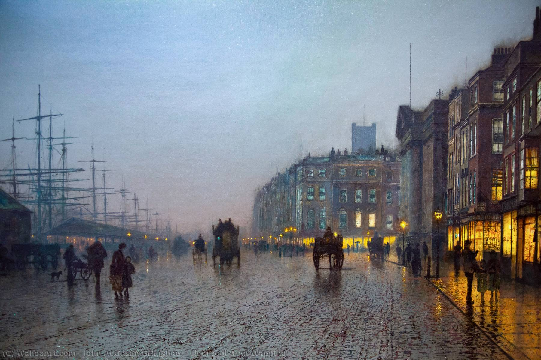 Achat Reproductions D'œuvres D'art | Liverpool de Wapping de John Atkinson Grimshaw | Most-Famous-Paintings.com