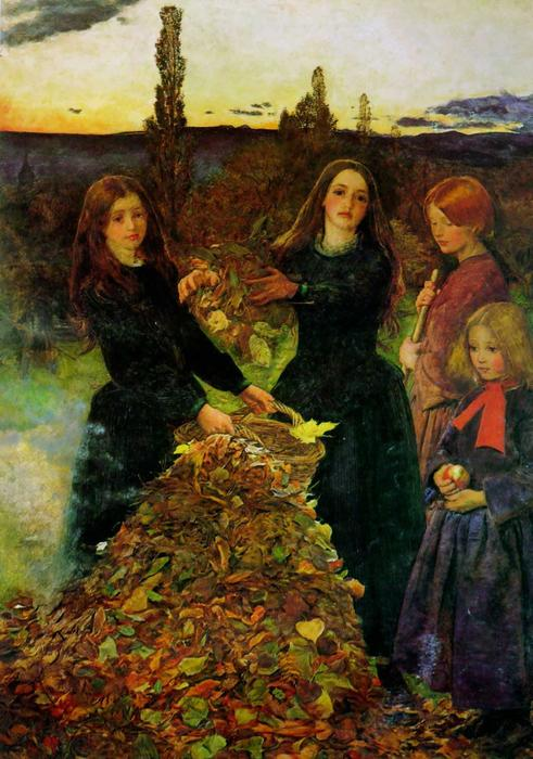 Achat Reproductions D'art | feuilles dautomne de John Everett Millais | Most-Famous-Paintings.com