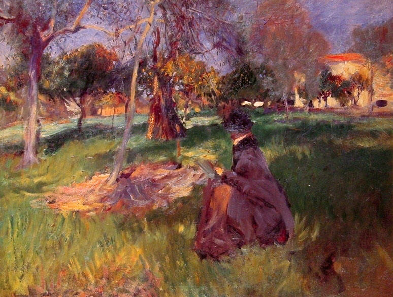 Achat Reproductions De Peintures | Dans le verger de John Singer Sargent | Most-Famous-Paintings.com