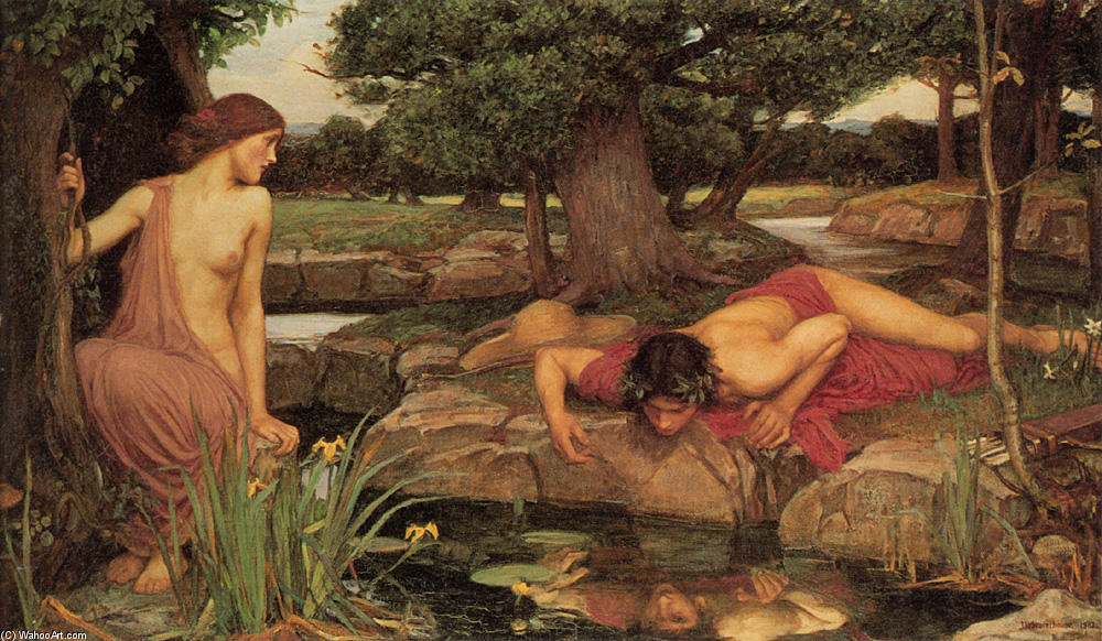 Achat Reproductions De Peintures | Echo et Narcisse de John William Waterhouse | Most-Famous-Paintings.com