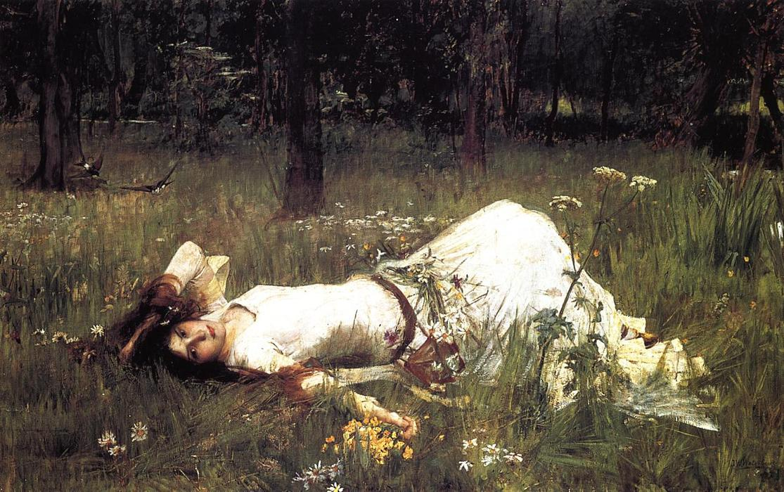 famous painting Ophelia 1 of John William Waterhouse