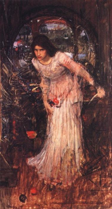 Achat Reproductions De Qualité Musée | La dame d étude shalott de John William Waterhouse | Most-Famous-Paintings.com