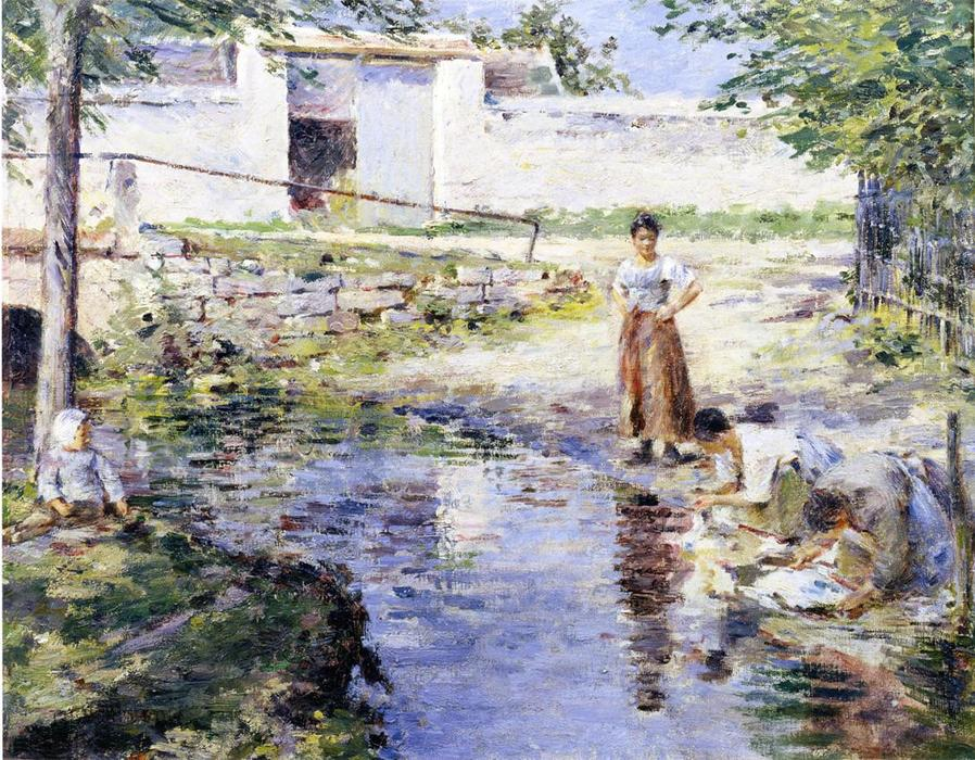 Achat Reproductions D'œuvres D'art | Potins de Theodore Robinson | Most-Famous-Paintings.com
