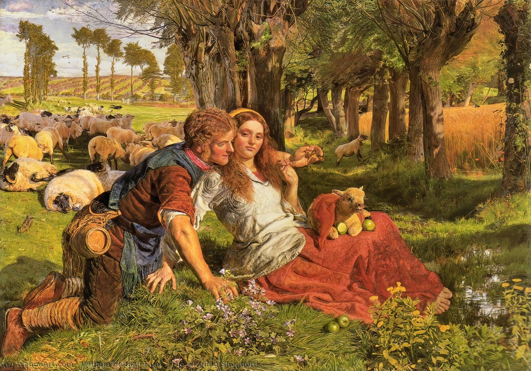 Achat Reproductions D'œuvres D'art | Le mercenaire Shepherd de William Holman Hunt | Most-Famous-Paintings.com