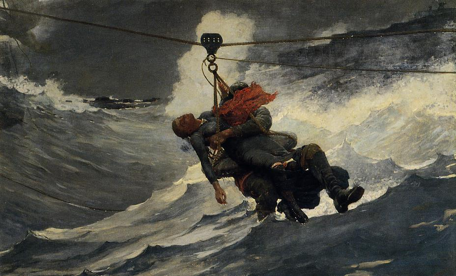Achat Copie Tableau : La ligne de vie de Winslow Homer | Most-Famous-Paintings.com