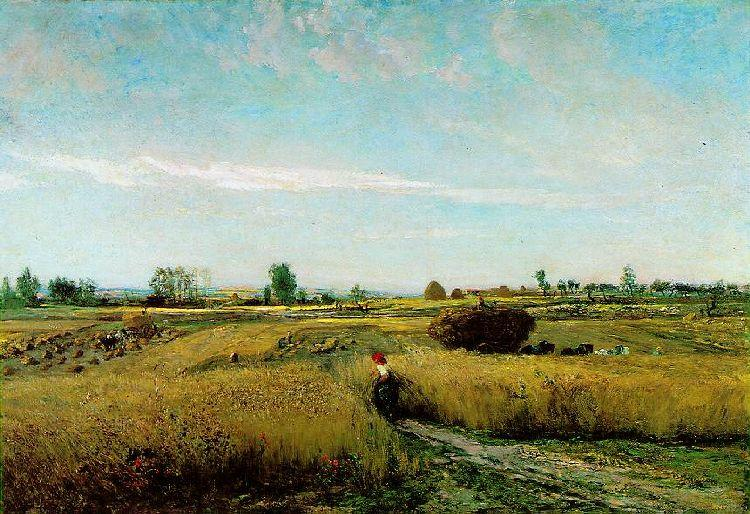 famous painting moisson of Charles François Daubigny