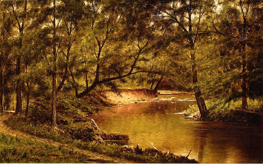 famous painting Woodland Intérieur of Thomas Worthington Whittredge