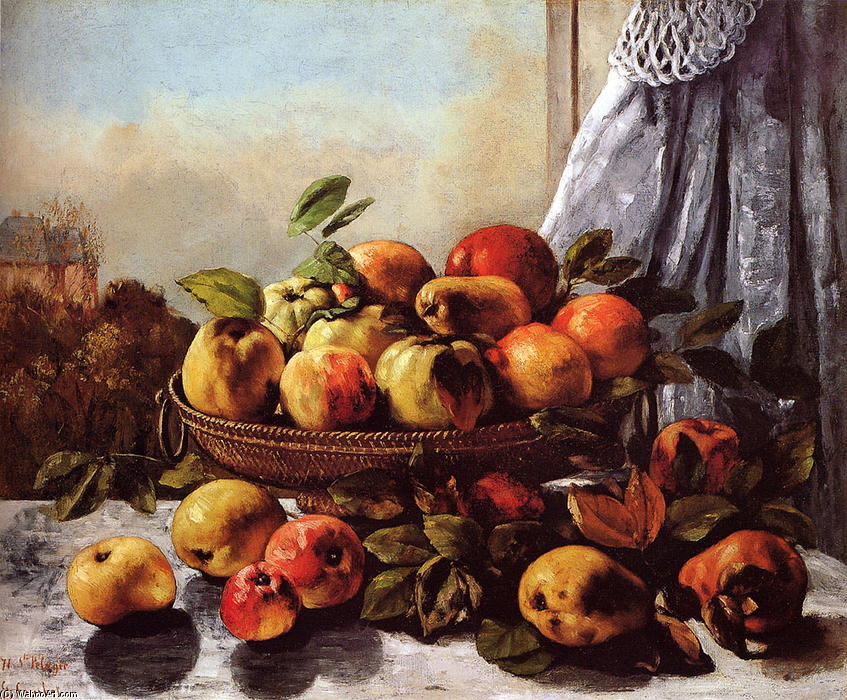 Achat Reproductions D'œuvres D'art | nature morte fruits de Gustave Courbet | Most-Famous-Paintings.com
