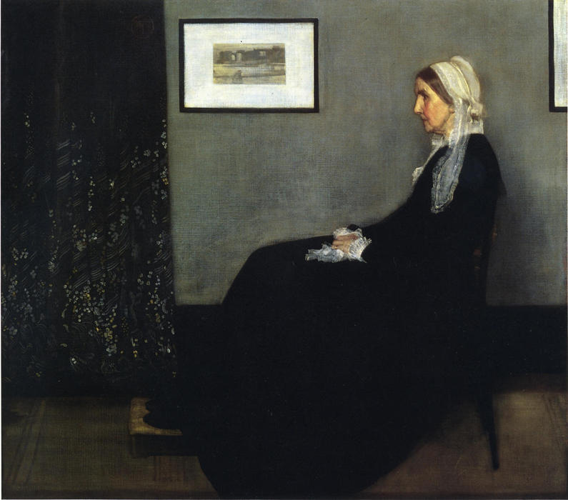 Achat Reproductions D'œuvres D'art | arrangement en gris et noir . Portrait du Painter's Mère de James Abbott Mcneill Whistler | Most-Famous-Paintings.com