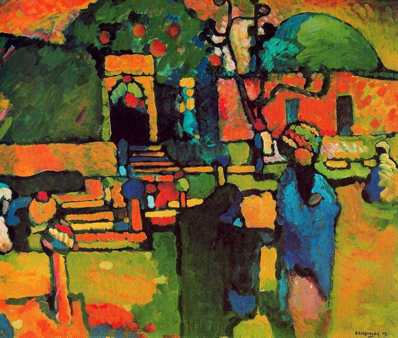 famous painting Cimetière arabe of Wassily Kandinsky