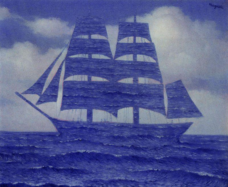 | La séduisante de Rene Magritte | Most-Famous-Paintings.com