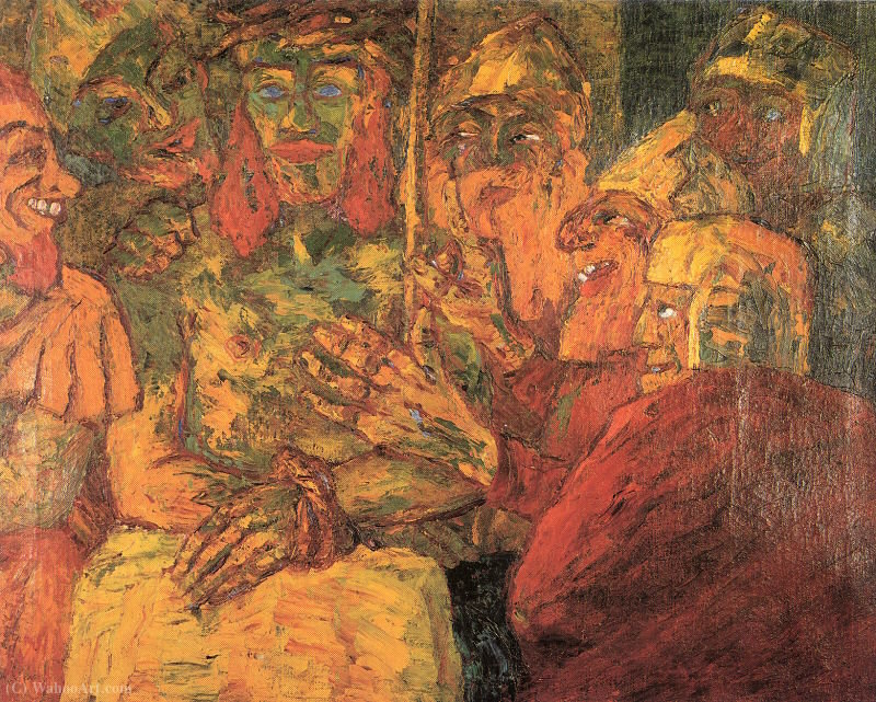 | la moquerie du christ de Emile Nolde | Most-Famous-Paintings.com