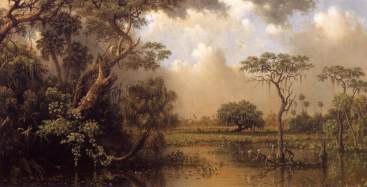 Achat Reproductions D'œuvres D'art | La Grande Florida Marsh de Martin Johnson Heade | Most-Famous-Paintings.com