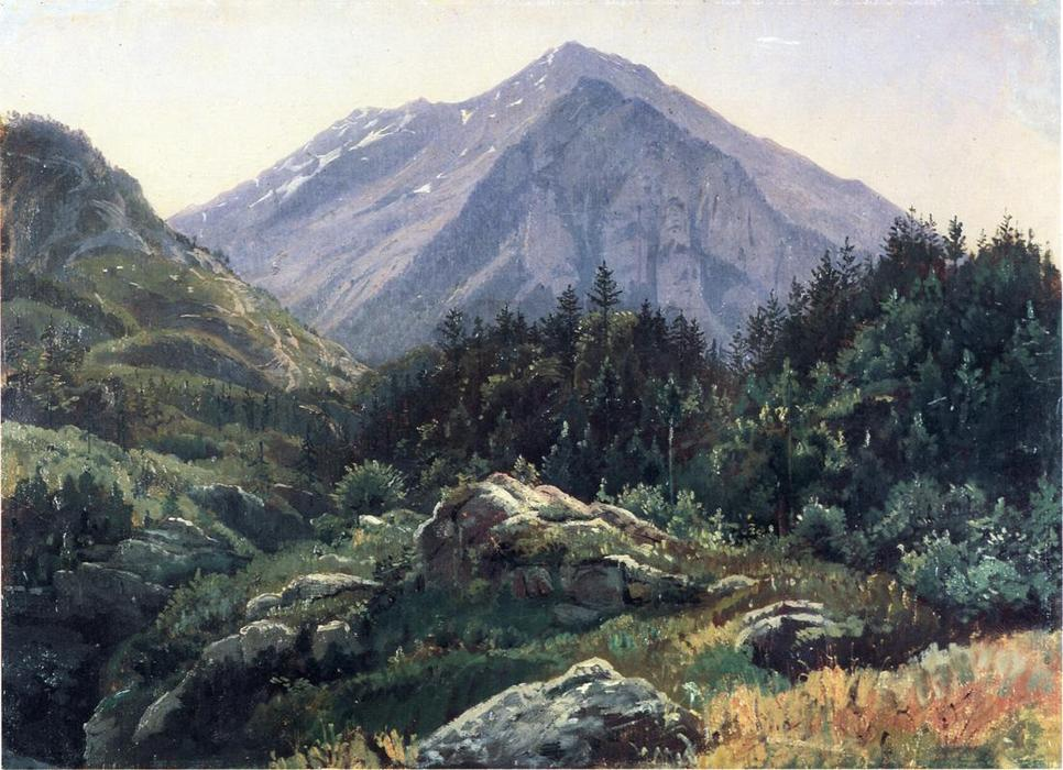 famous painting montagne paysages Suisse du  of William Stanley Haseltine