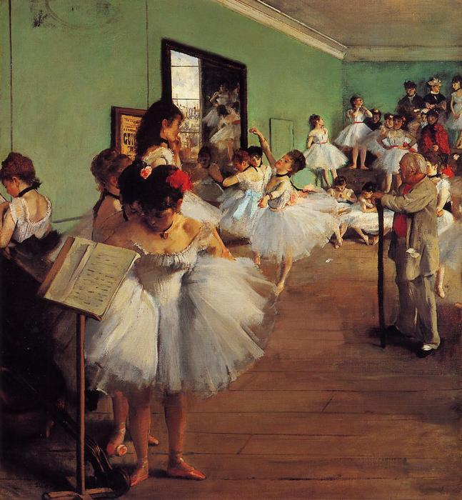 Achat Reproductions D'art | la classe de danse de Edgar Degas | Most-Famous-Paintings.com