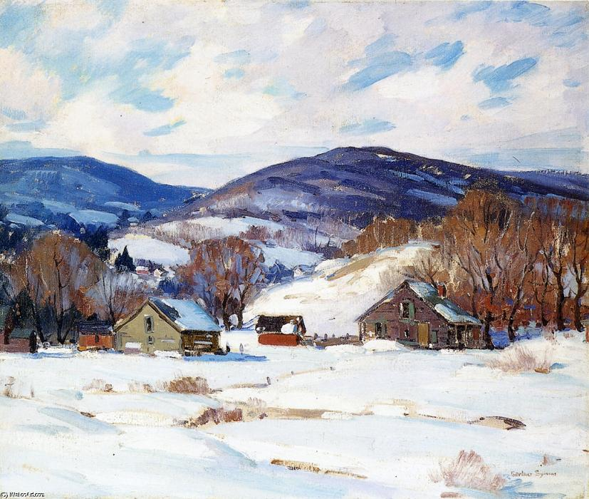 famous painting début neige of George Gardner Symons