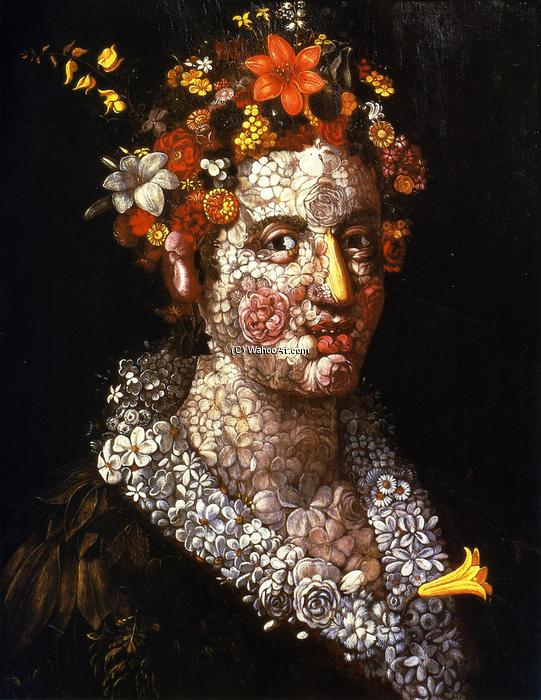 famous painting floral still life of Giuseppe Arcimboldo