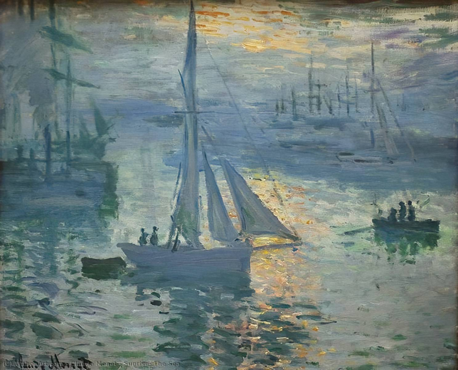 Achat Reproductions De Qualité Musée | lever du soleil la  mer  de Claude Monet | Most-Famous-Paintings.com