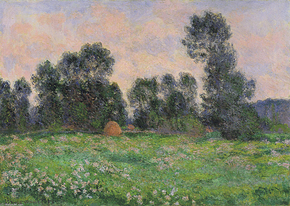 famous painting prairie dans giverny of Claude Monet