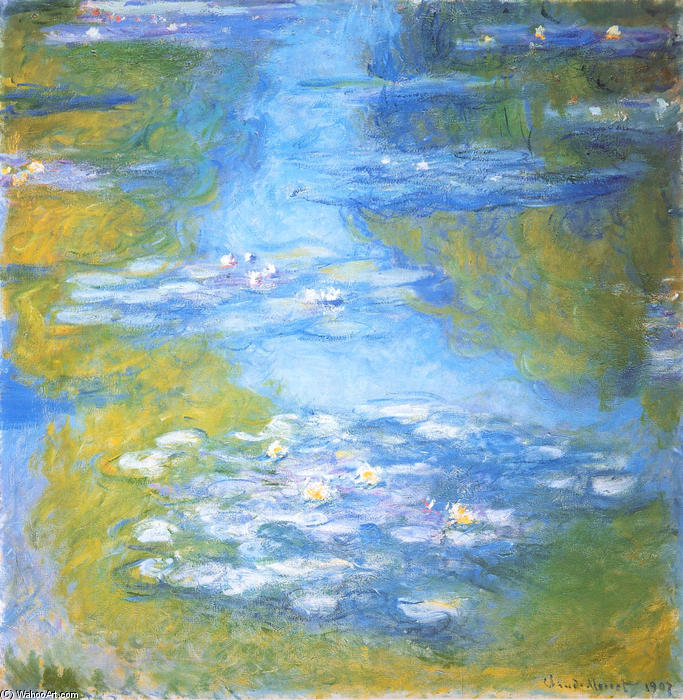 famous painting  nénuphars 23 of Claude Monet