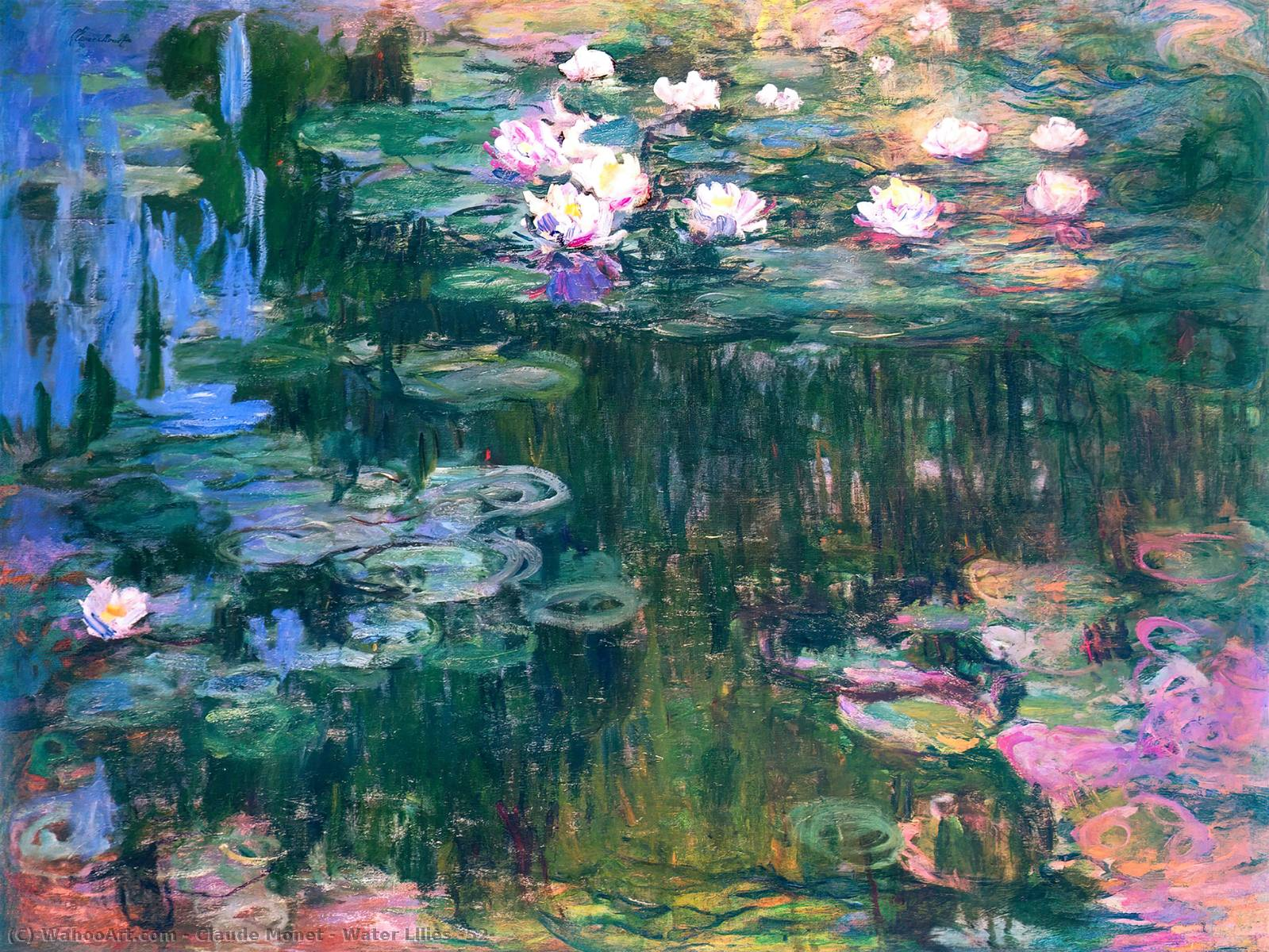 Achat Reproductions De Peintures |  nénuphars 52 de Claude Monet | Most-Famous-Paintings.com