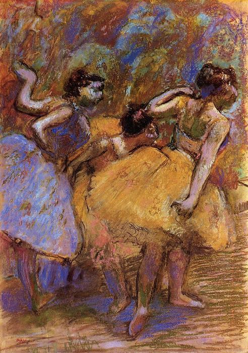 famous painting danseurs of Edgar Degas