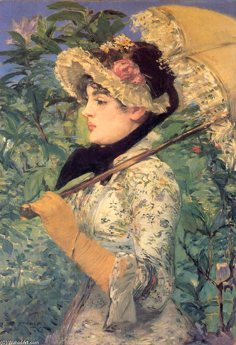 famous painting Printemps ( étude de jeanne demarsy ) of Edouard Manet