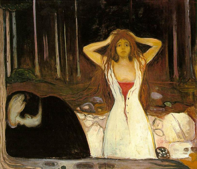 famous painting Cendres of Edvard Munch