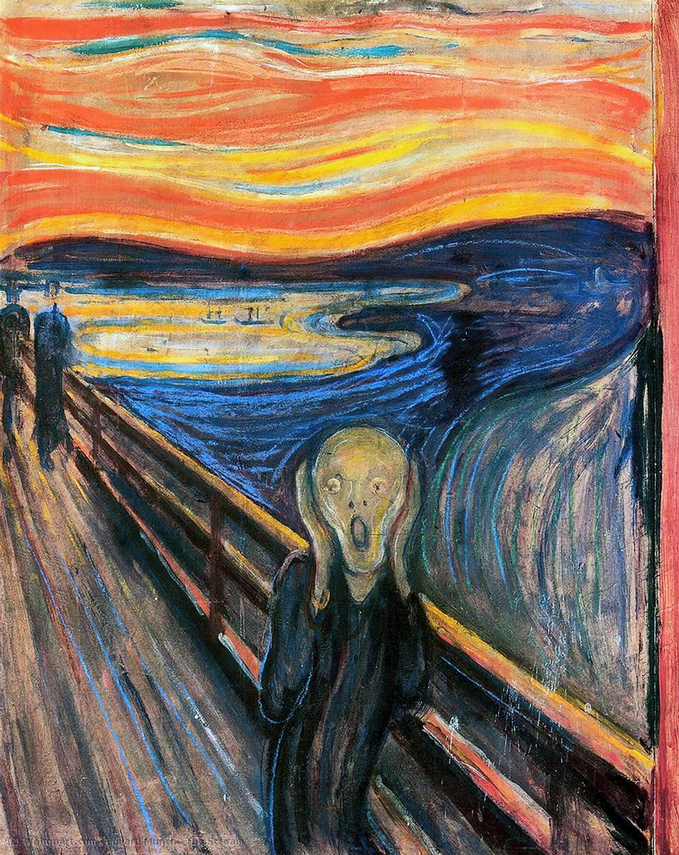 famous painting Le Cri of Edvard Munch