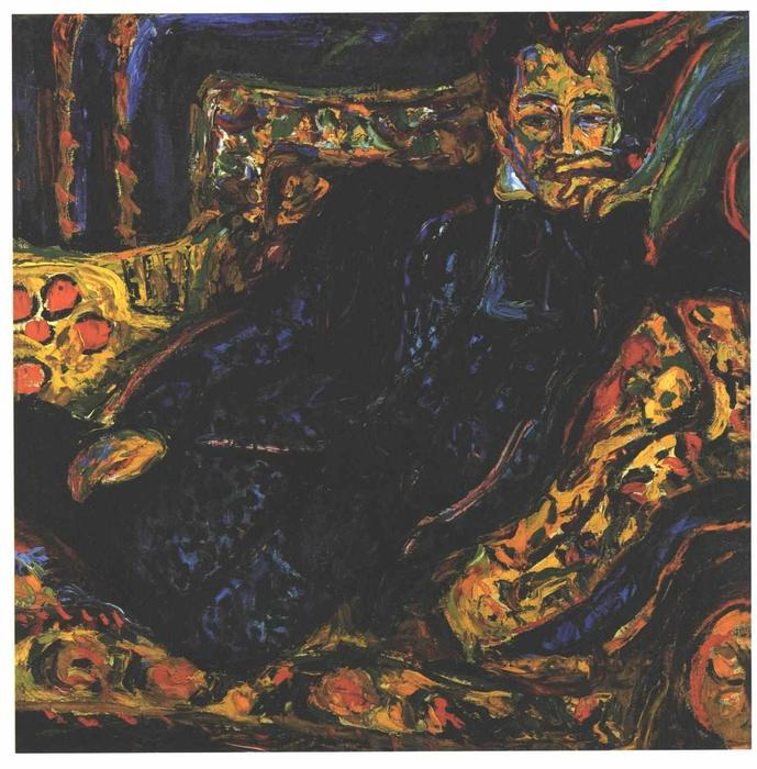 Achat Reproductions D'œuvres D'art | Portrait de Hans Frisch de Ernst Ludwig Kirchner | Most-Famous-Paintings.com
