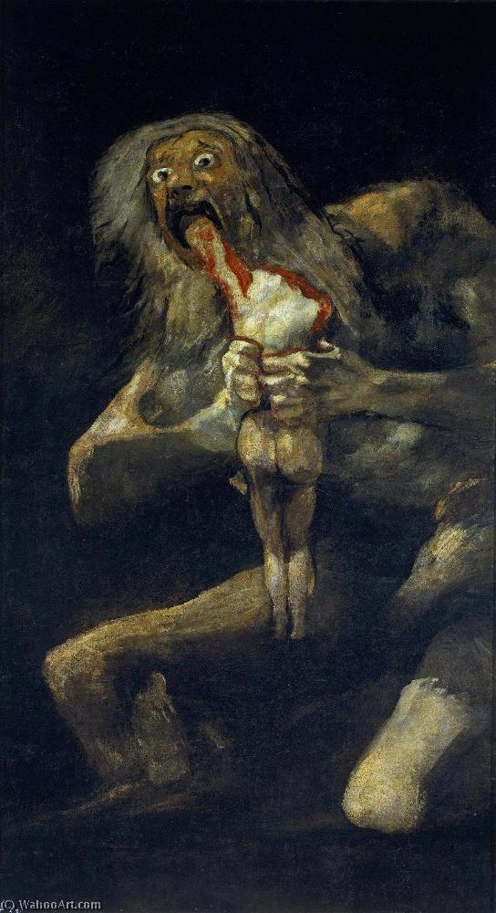 Achat Reproductions D'œuvres D'art | saturne dévorant son fils de Francisco De Goya | Most-Famous-Paintings.com