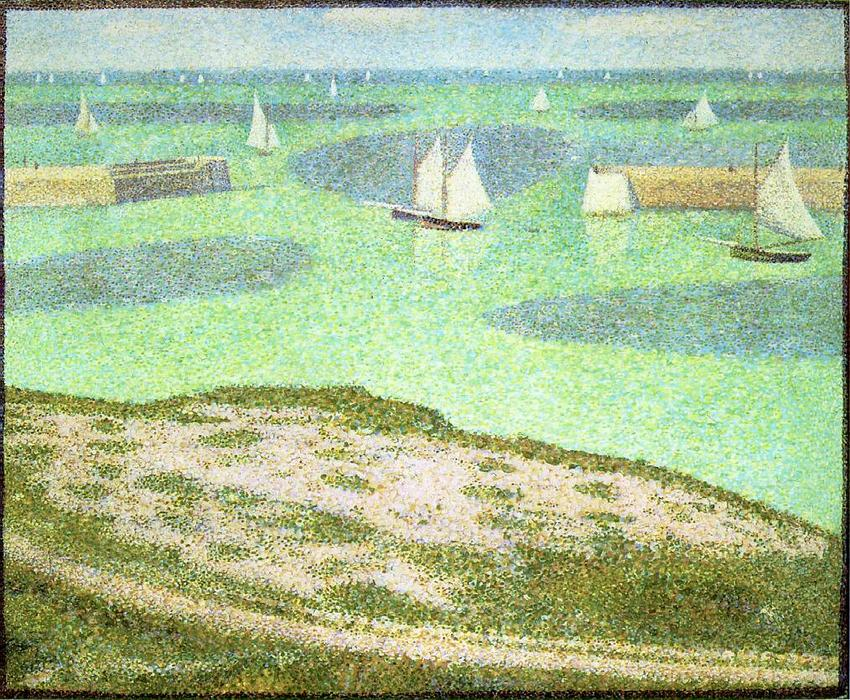 famous painting Port-en-Bessin entrée du port of Georges Pierre Seurat