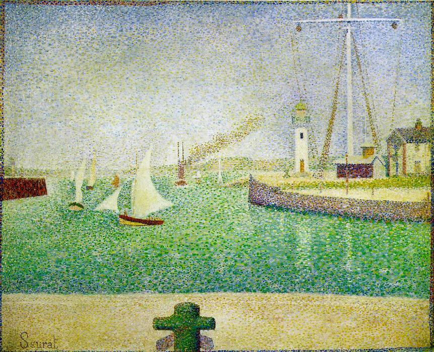 famous painting Port de Honfleur of Georges Pierre Seurat