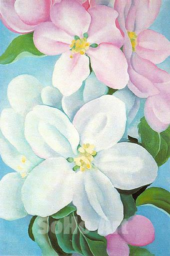 famous painting pomme fleur of Georgia Totto O'keeffe